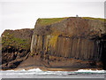 NM3235 : Cliff at the Southern end of Staffa by David Dixon