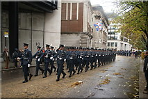 TQ3281 : View of soldiers in the Lord Mayor's Parade from Gresham Street #4 by Robert Lamb