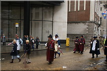 TQ3281 : View of people in the Lord Mayor's Parade from Gresham Street #11 by Robert Lamb