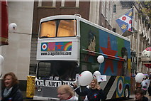 TQ3281 : View of a CCA Art Bus in the Lord Mayor's Parade from Gresham Street by Robert Lamb