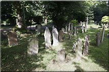 SP5206 : Churchyard near the tower by Bill Nicholls