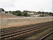 SX8769 : View from a Plymouth-Exeter train - edge of Newton Abbot by Nigel Thompson