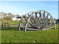 NZ4053 : Pit wheels, Ryhope Colliery by Oliver Dixon
