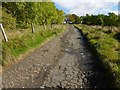 NS4078 : Track to Highdykes Farm by Lairich Rig