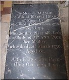 TF5617 : Tilney All Saints Parish Church: ledger slab (6) by Basher Eyre