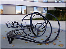 TQ3078 : Seating as sculpture by the River Thames by pam fray