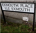 ST5393 : Bilingual name sign Exmouth Place/Lle Exmouth, Chepstow by Jaggery