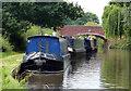 SJ9721 : Narrowboats moored next to Tixall Bridge No 106 by Mat Fascione