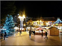 SZ0891 : Bournemouth: the 2016 Christmas lights have come on by Chris Downer