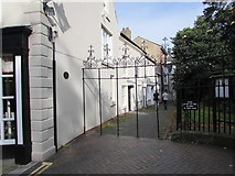 SJ3350 : Early 18th century St Giles Gates, Wrexham by Jaggery