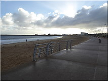 NZ3668 : Part of the Promenade at South Shields by Jeremy Bolwell