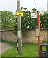 SU1235 : Duck and bus signs, Middle Woodford by Derek Harper