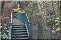 ST1793 : Footbridge, River Sirhowy, below Wyllie by M J Roscoe