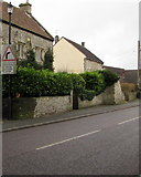 ST6976 : Warning sign, Westerleigh Road, Pucklechurch by Jaggery