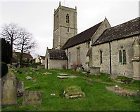 ST6976 : Church and churchyard, Pucklechurch by Jaggery