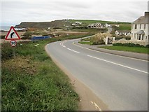 SS1902 : The coast road at Widecombe Bay by Philip Halling