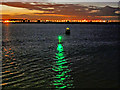 O2234 : River Liffey, Green Starboard Marker Buoy and Light by David Dixon