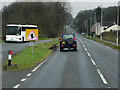 SO0865 : Layby on the A483 North of Crossgates by David Dixon