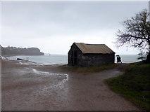 SX9573 : Small Hut at Sprey Point by PAUL FARMER