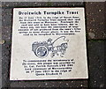 SO8963 : Droitwich Turnpike Trust information tile in the St Andrew's Street pavement, Droitwich by Jaggery