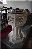 TR2647 : Church of St Andrew - font by N Chadwick