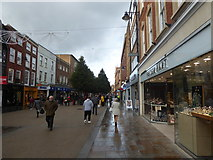 SO8554 : On the High Street in Worcester by Jeremy Bolwell