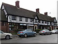 SO8963 : Black and white row of shops, Victoria Square, Droitwich by Jaggery