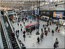 TQ3179 : Concourse at Waterloo Station, London SE1 by Christine Matthews