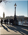 TQ3080 : South Bank Shadows, London SE1 by Christine Matthews