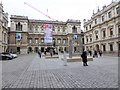 TQ2980 : Sculptures in the Courtyard of Burlington House by Oliver Dixon