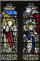 TL3464 : St Peter, Boxworth - Stained glass window by John Salmon