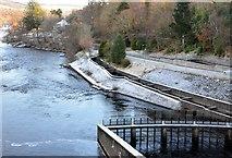 NN9357 : Fish ladder at Pitlochry by Jim Barton