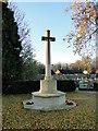 TF4721 : Cross of Sacrifice in Sutton Bridge churchyard by Adrian S Pye