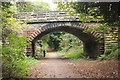 SJ3177 : The Wirral Way at Damhead Lane Bridge by Jeff Buck
