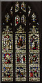TL1998 : Stained glass window, Peterborough Cathedral by Julian P Guffogg