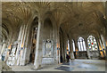 TL1998 : Fan vaulting, Peterborough Cathedral by J.Hannan-Briggs