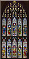 TL1998 : West window, Peterborough Cathedral by J.Hannan-Briggs