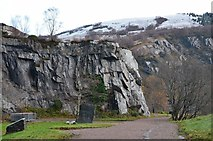 NN0858 : Entrance to Ballachulish Quarry by Jim Barton