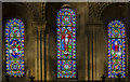 SK8572 : East windows, St Helen's church, Thorney by Julian P Guffogg