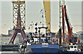 "J3575 : The ""Lough Foyle"", Belfast (December 2016) by Albert Bridge"