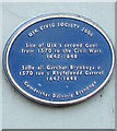 SO3700 : Blue plaque recording the site of Usk's second gaol (jail) by Jaggery