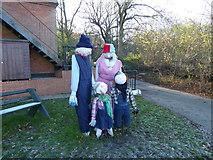 TQ4476 : Scarecrows at Woodlands Farm by Marathon