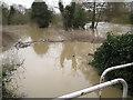 SP2965 : Riverside Walk under water, southeast Warwick, 10 March 2016 by Robin Stott