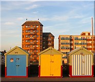 TQ2704 : Beach Huts 277-279, Western Esplanade, Hove by Simon Carey