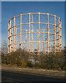 TQ3089 : De-commissioned gasholder, Wood Green by Julian Osley