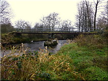 H5371 : Footbridge, Camowen River by Kenneth  Allen