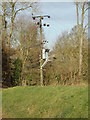 TG0723 : Electricity Pole off Kerdiston Road by Adrian Cable