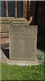 SJ7744 : Memorial to Leycott Mining Explosion, (Fair Lady Pit), All Saints Church, Madeley by Colin Park
