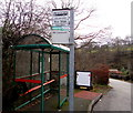 SO2000 : English side of a bilingual bus stop sign, Cwm Nant Gwynt by Jaggery