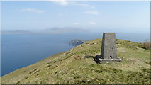L6686 : Clare Island - Trig point on Knockmore by Colin Park